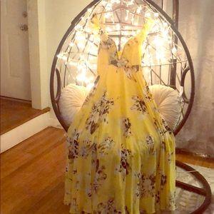 Fashion Nova Newport Beach floral dress yellow
